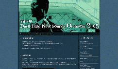 Dark Blue New Sounds Orchestra 2005 ウェブサイト