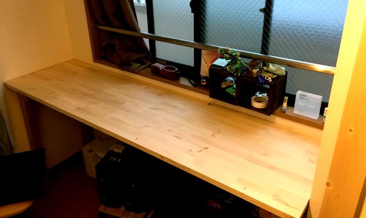 8,500円くらいでカウンターテーブルを自作した