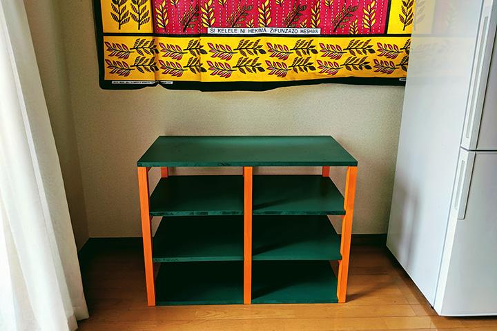 DIY3作目、アフリカにインスピレーションされた棚を自作した