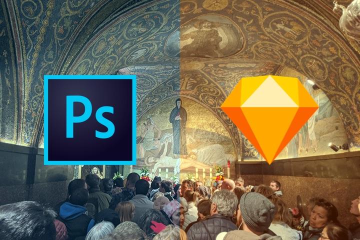 Photoshop v.s. Sketch のjpg出力の画質とファイル容量比較