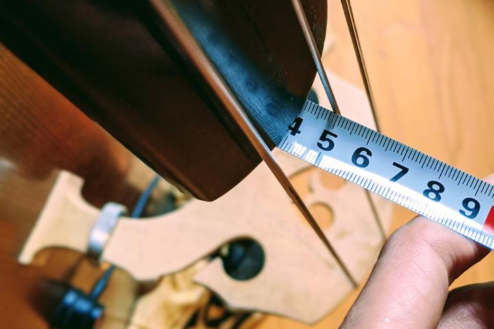 初夏を迎え、コントラバス/ウッドベースの弦高を下げてみる